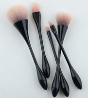 5pcs Loose Powder Makeup Brushes Set Pro Small Waist Eye Shadow Blending Make Up Brushes Soft Synthetic Hair For Beauty