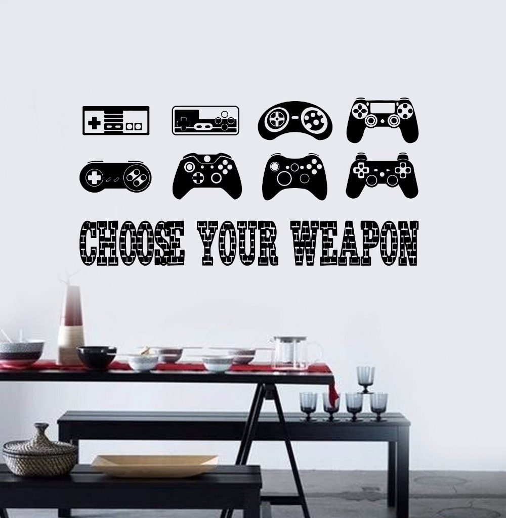 removable wall sticker gamer quote vinyl wall decal boys room