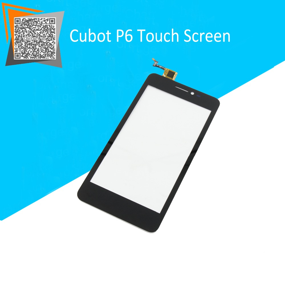 NEW Original 5 for CUBOT P6 Touch Digitizer Sensors Outer Glass Black Replacement Parts Free Tracking for cubot p6 lcd touch