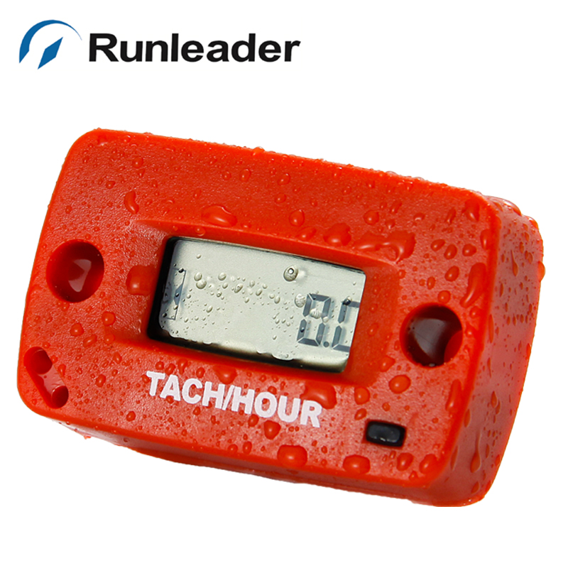 (5 pcs/lot)Resettable Digital Inductive tachometer Hour Meter Maintenance reminder for jet ski motocross mower