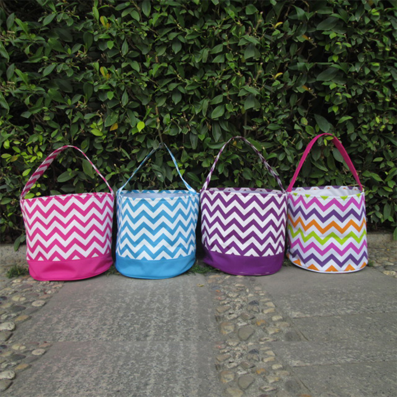 Wholesale Blanks DOMIL Chevron Easter Baskets Classic Design Chevron  Collection Totes Buckets DOM103091 8924af0d397c