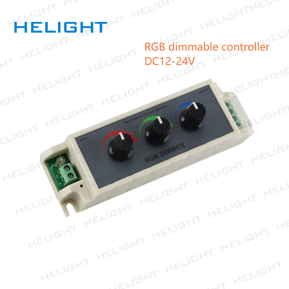 Rgb Dimmer Us 6 48 38 Off Aliexpress Buy Dc12v 24v 9a Knob Rgb Led Dimmer Controller 3 Channel Output For Rgb Multi Color Led Strip Lights From Reliable