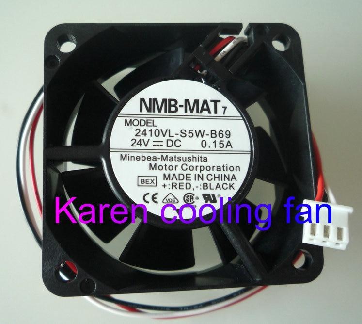 New Original NMB 6025 24v 0.15a 2410VL-S5W-B69 2410VL-S5W-B59 waterproof inverter fan original 2410ml 05w b39 6025 6cm 0 08a 24v inverter fan stall warning for nmb 60 60 25mm
