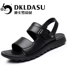 2017 New Arrival Beach Men's Sandals Korean Genuine Leather Casual Shoes