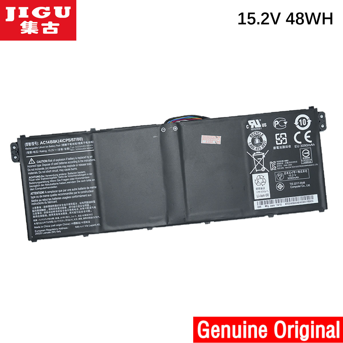 JIGU Original Laptop Battery AC14B8K FOR Acer E3-111 E3-112 CB3-111 CB5-311 ES1-511 ES1-512 E5-771G V3-111 V3-371 ES1-711 48WH