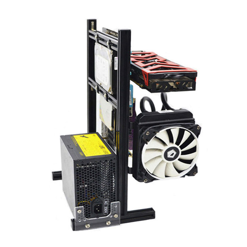Hot Computer Cases Water-cooled Chassis Desktop Mainframe For Game Chassis DIY MINI/M/ATX Vertical Main Chassis(China)