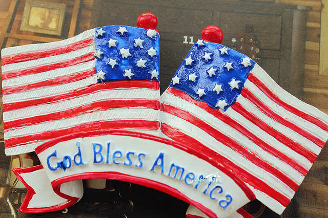 Online Shop God Bless America American Flag Usa Tourist Travel
