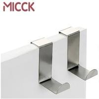 MICCK 2 teile/satz Mehrzweck Edelstahl Haken Küche Schrank Kleidung Hause Lagerung Hanger Badezimmer Handtuch tür Haken zu hängen