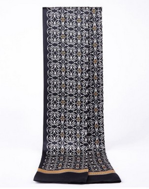 De gama alta de los hombres de seda de la bufanda de seda de la bufanda de seda hombre de negocios Británico