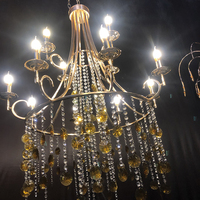 12 heads luxury fashion grand event stage ceiling chandeliers large crystal light decoration for Christmas wedding birthday home