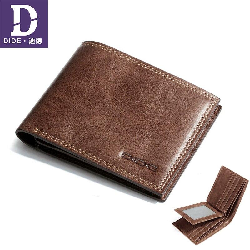 DIDE Men Wallets Card-Holder Genuine-Leather Fishon Fresh Mini