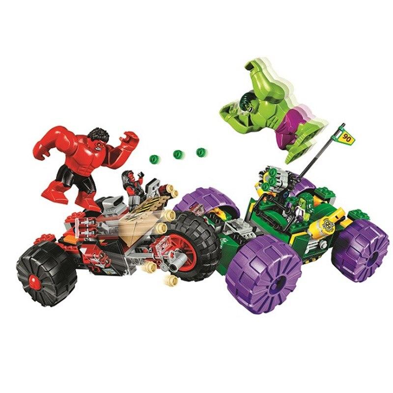 Bela 10675 The Avengers Super Heroes Series 76078 Hulk vs Red Hulk Building Blocks 387pcs Bricks Toys For Gift