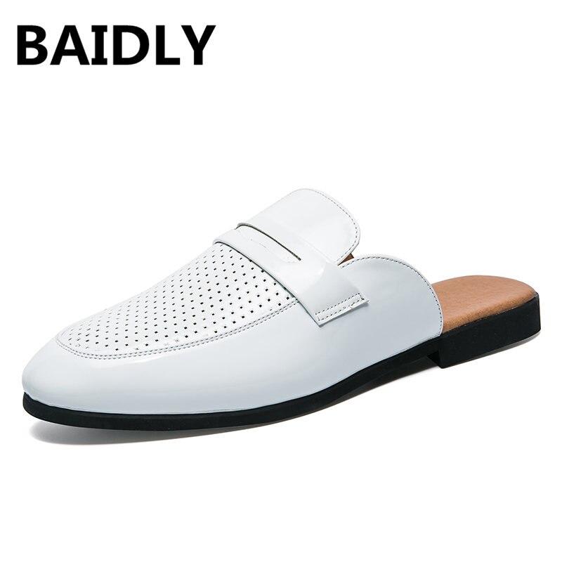 100% QualitäT Baidly Marke Sommer Männer Hausschuhe Männlichen Leder Schuhe Für Mann Vintage Casual Strand Sandalen Nicht-rutsche Zapatos Schuhe