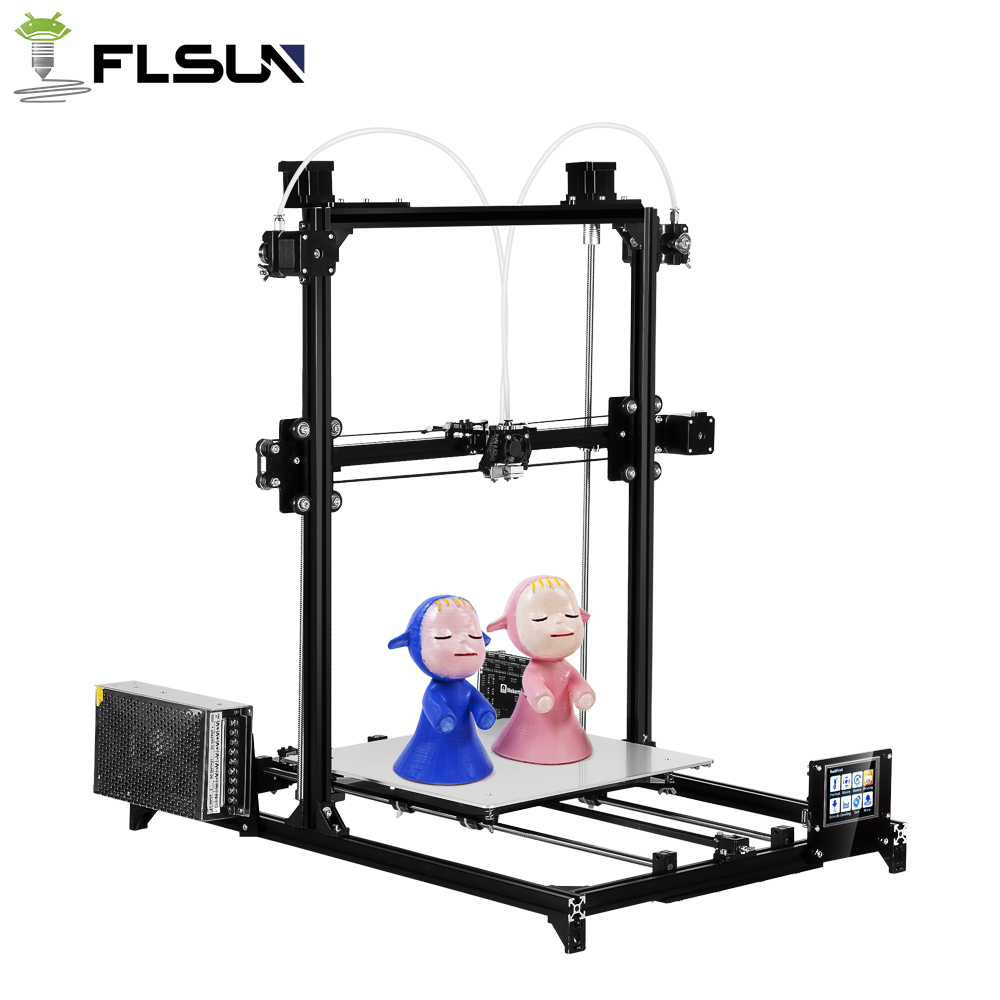 2018 Flsun I3 3D Drucker Diy Kit Dual Düse Touchscreen Große Druck Größe 300*300*420mm, eine Rolle Filament für geschenk