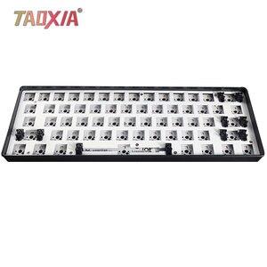 GK61S Customized 60% GH60 dwufunkcyjny zestaw klawiatury mechanicznej PCB płyta główna przewodowa RGB niestandardowa nasadka klawiatury