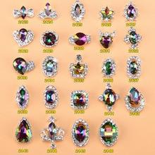 5pcs New Crystal Volcano Nail Rhinestone Alloy Nail Art Decorations DIY Glitter Charm 3D Nail Jewelry