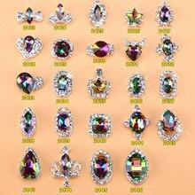 5pcs New Crystal Volcano Nail Rhinestone Alloy Nail Art Decorations DIY Glitter Charm 3D  Nail Jewelry Manicure Supplies