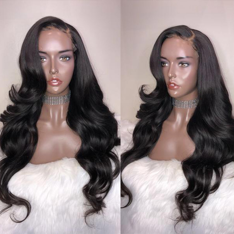 Transparent Lace Wigs 360 Lace Frontal Wig Pre Plucked With Baby Hair Brazilian Body Wave Lace