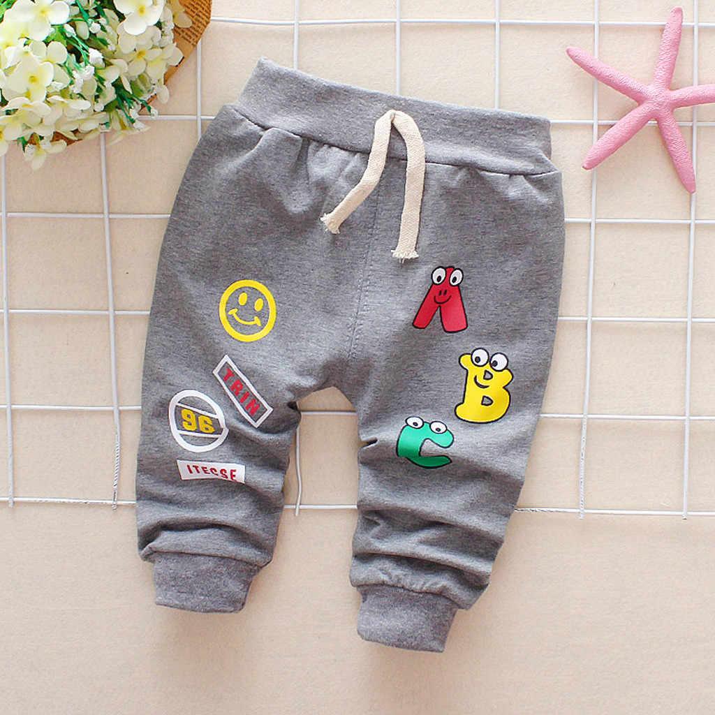 Pantalones ARLONEETboy para niños, pantalones con estampado alfanumérico ABC de dibujos animados, pantalones harem, pantalones coreanos de alta calidad para niños