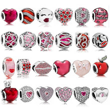 JP 100% 925 Sterling Silver Beads Fit Pandora Charms Silver 925 Original Beads Jewelry Making Fit Pandora Bracelet Fashion Beads