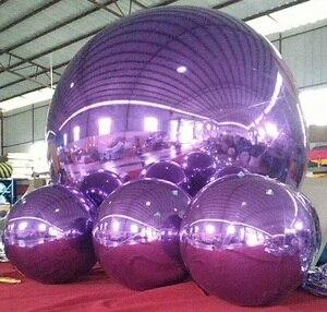 Новый 1 м и 3 м фиолетовый надувной зеркальный шар/рекламный шар для украшения и рождественского праздника