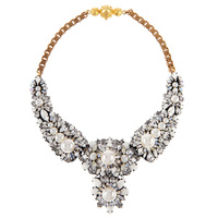 JShine Luxurious Wedding Statement Necklace Clear Glass Crystal Chokers Necklace Women Collar Necklace Party Jewelry