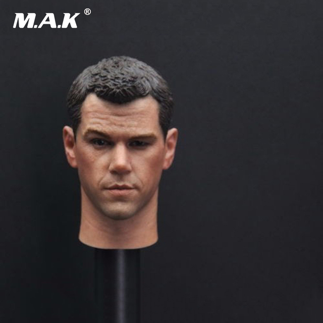 "1/6th Scale Matt Damon Head Sculpt The Older Version Darker for 12"" Male Action Figure Body"