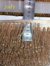 stock  10 yards/bag 5cm 2 color imitation diamond tassel ribbon for dress fashion wedding decoration Ym351#