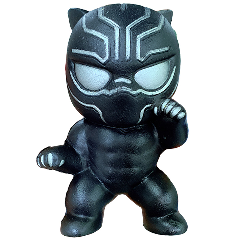 Jumbo Black Panther Squishy Simulation Cute Cartoon Slow Rising Straps Scented Soft Squeeze Party Stress Relief For Kid Xmas Toy