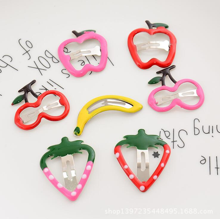 New Design Baby Cute Hairclips Colourful Fruits Hairpins Girls Hair Accessories Children Hairgrips Kids BB Hair Clips Headwear 660v ui 10a ith 8 terminals rotary cam universal changeover combination switch