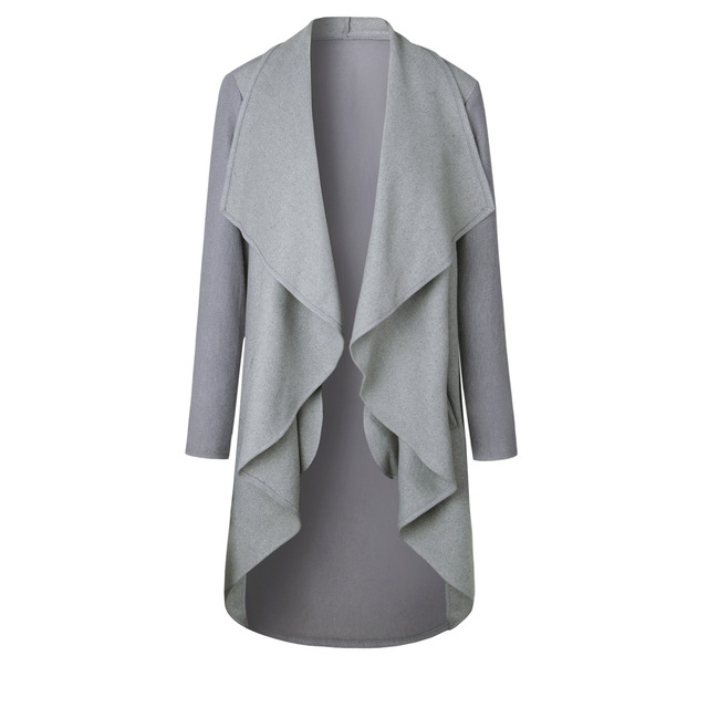 LOHILL Womens Waterfall Cardigan Ladies Long Sleeve Jumper Open Cardi Top Jacket Coat