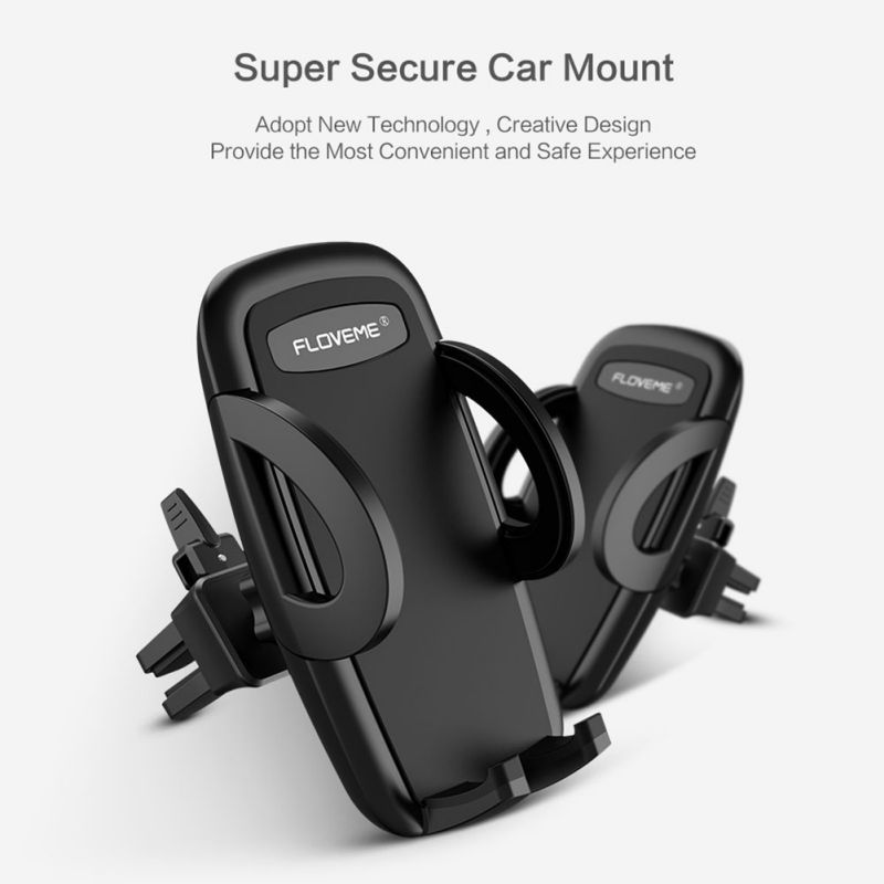 Car Mobile Phone Holder Stands Universal Air Vent Mount Car Holders Stand One-Click Release