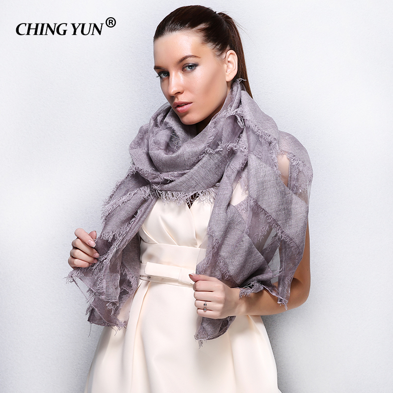 Fashion Bandana Luxury Cachecol Brand Cotton   Scarf   Women Shawl High Quality Stoles New Tassels Eugen yarn splicing Long   wraps