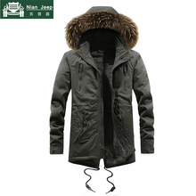 Thick Warm Parka Men Military Winter Jacket Men Long Coats Hooded Mens