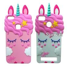 3D Pretty Unicorn Soft Silicone Case Cover Skin For Huawei P9 P9 Lite / P8 P9 Lite 2017 / P10 Lite Y5 II Y6II For Xiaomi Redmi все цены