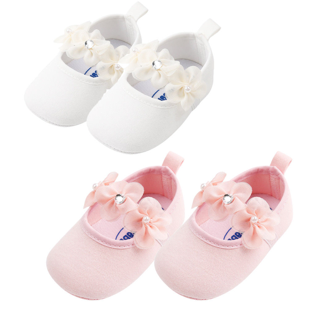 Pudcoco Newborn to Infants Baby Girl Soft Crib Shoes Moccasin Prewalker Sole Shoes