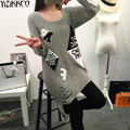 2016 Winter Women Sweater New Fashion Labeling Hples Pullovers High Quality Gray Sweaters Pull Femme Sweter Mujer SZQ004