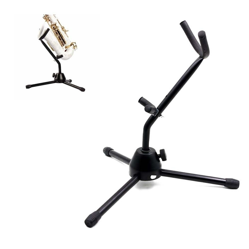 Foldable Tenor Saxophone Stand Tripod Holder Alto Sax Metal Floor Stand Tripod Holder Woodwind Instrument Accessories