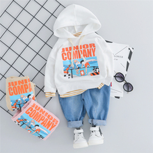 New Toddler Infant Clothing Sets Autumn Baby Boys Girls Clothes Suits  Hooded T Shirt Pants Children Sports Costume Kids Suit sports smiling face pattern hooded t shirt crop pants twinset for girls