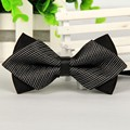SHENNAIWEI pointed casual black bow tie striped silk  mens 2016 bowties lots Wholesale