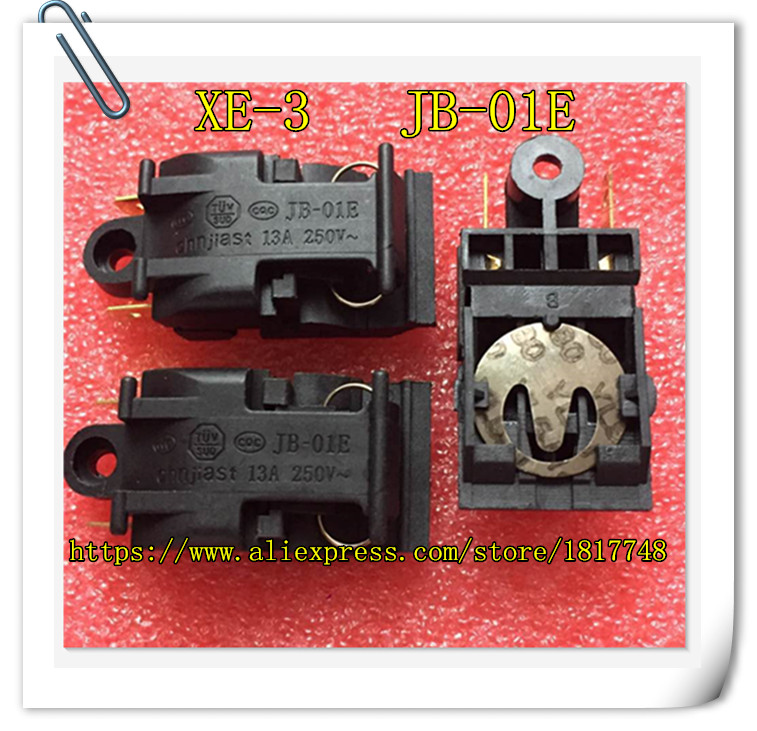 2PCS/LOT  XE-3 JB-01E  13A 250V T125 46MM*21MM Electric Kettle Switch, Electric Kettle, Temperature Control Switch