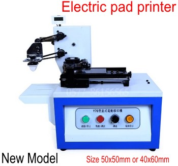 Electric pad printer machine Printing machine for product date, small logo print with counter + rubber pad + metal plate making pad printing rubber pad square pad