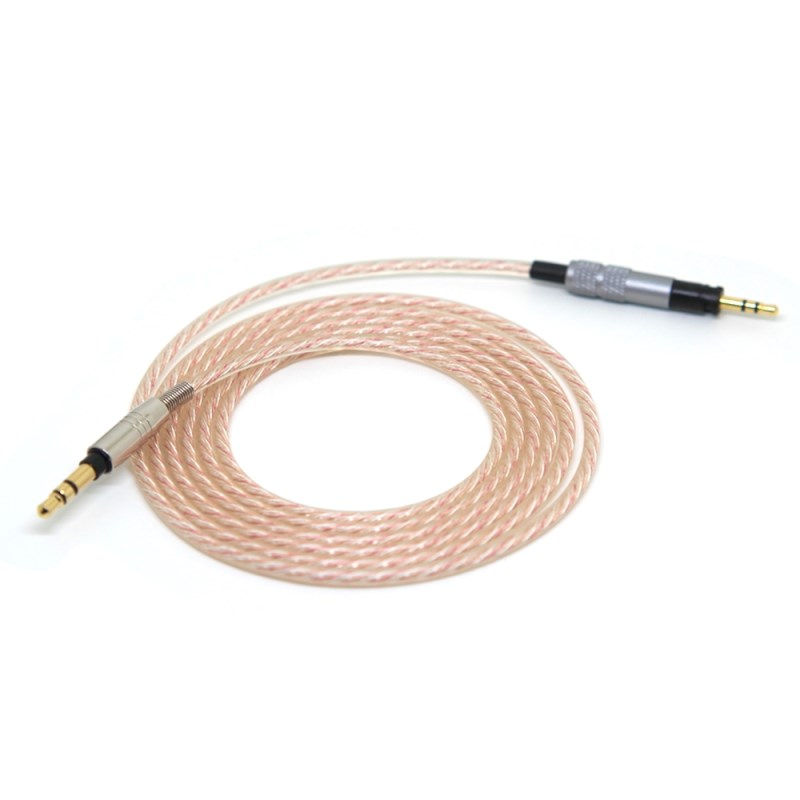 3.5mm To 2.5mm Silver Plated LC-OCC Earphone Hifi Upgraded Cable For Sennheiser Momentum 2 Headphone Replace Repair Audio Cables