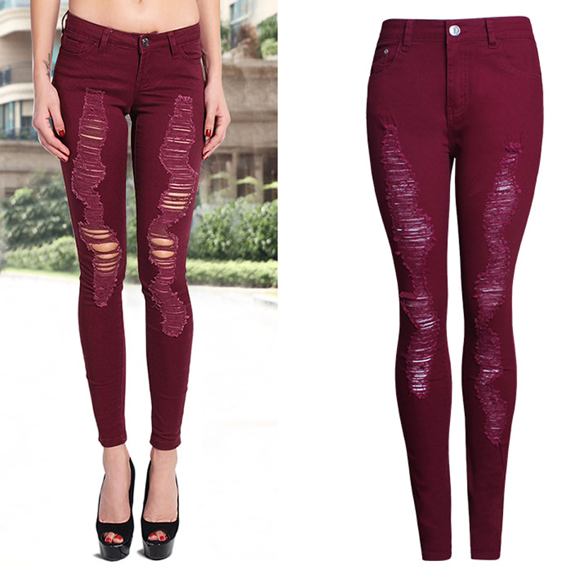 Online Get Cheap Red Skinny Jeans Women -Aliexpress.com | Alibaba