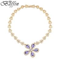 2015 New Bohemian Choker Necklace Gold Filled Bib Neckless Genuine Crystals From Swarovski Women Indian Jewelry