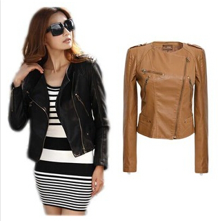 Popular Womens Short Black Leather Jacket-Buy Cheap Womens Short