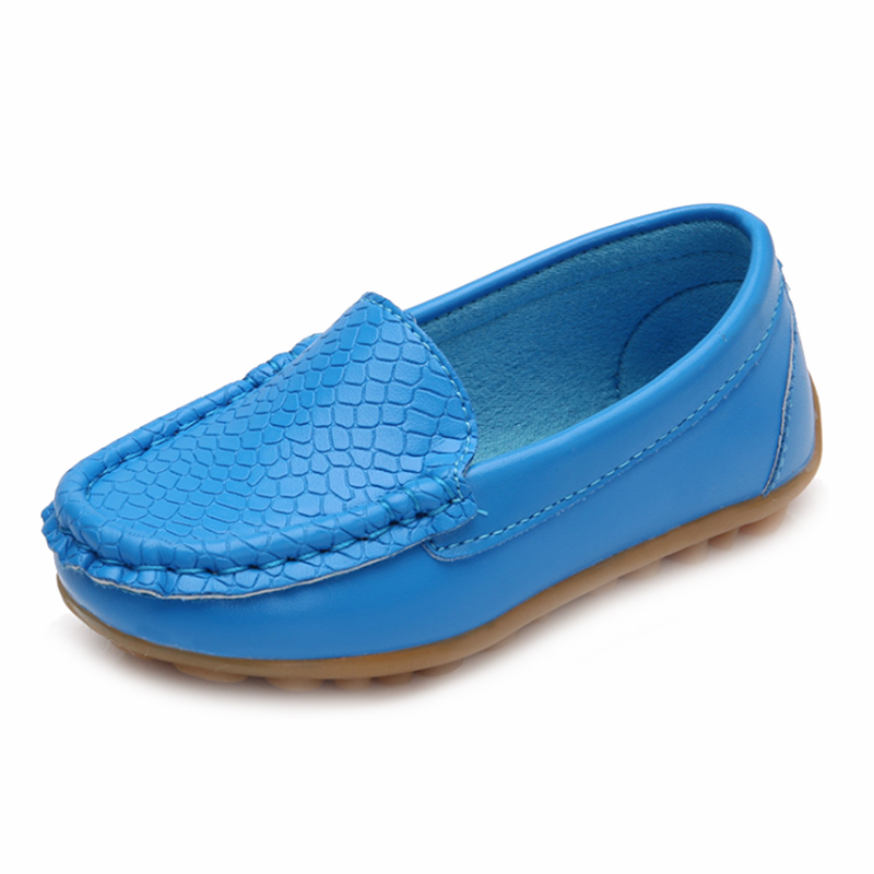 2018 Hot Sale Children Shoes Classic Fashion PU Shoes for Girls Boys Shoes Flat Casual Kids Shoes(Blue)