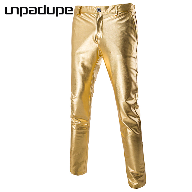 Unpadupe New Arrived 2018 Brand Casual Joggers Bright Bronzing Compression Pants Men Cotton Trousers Calabasas Cargo Pants Mens