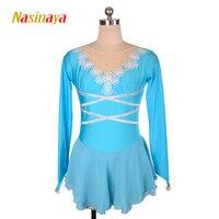 Nasinaya Figure Skating Dress Customized Competition Ice Skating Skirt for Girl Women Kids Patinaje Gymnastics Performance 83