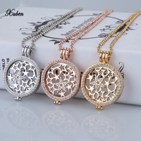 2016 Hot Selling Rose Gold 35mm Coin Holder Pendant Necklace Fashion For Women Jewelry Gift My